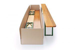Pivní set: efektivní balení stolu a lavic