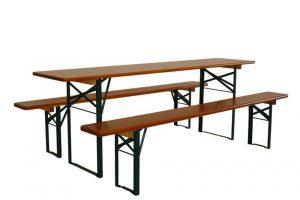 Pivní set klasický - dřevěný masiv a pásová ocel