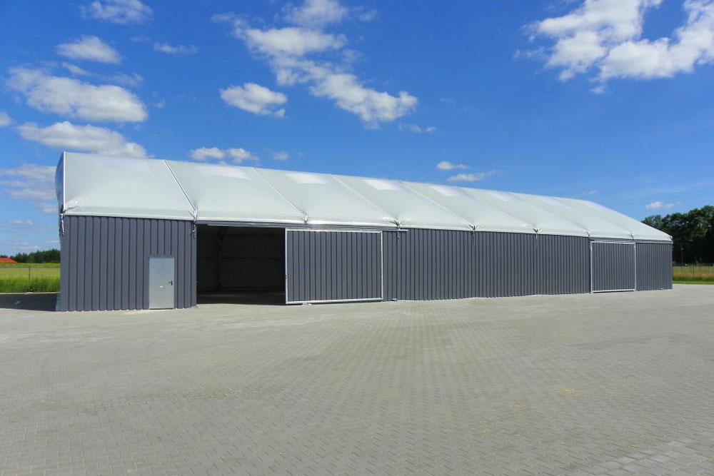 Montovaná hala - garáž pro zemědělskou techniku